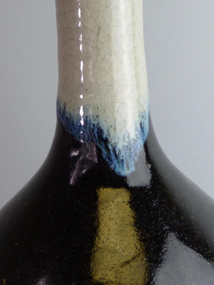 Antique Flame Glazed Sake Bottle - 4