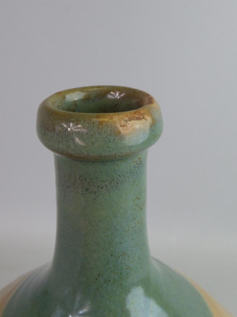 Seto Oribe-Style Tokkuri Sake Bottle - 4