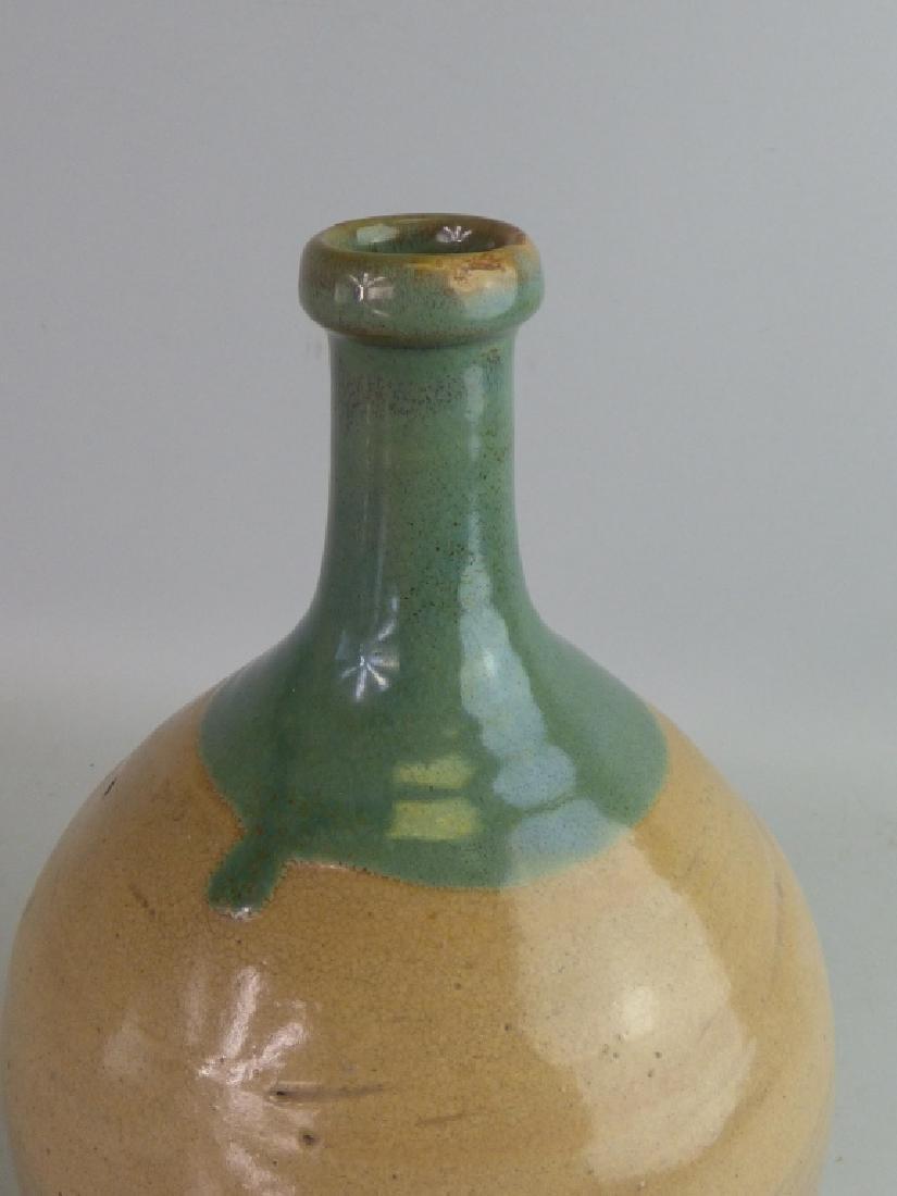 Seto Oribe-Style Tokkuri Sake Bottle - 5