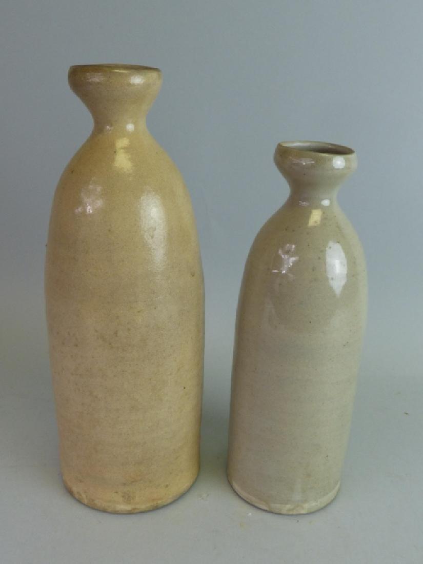 Two Pottery Sake Tokkuri - 3
