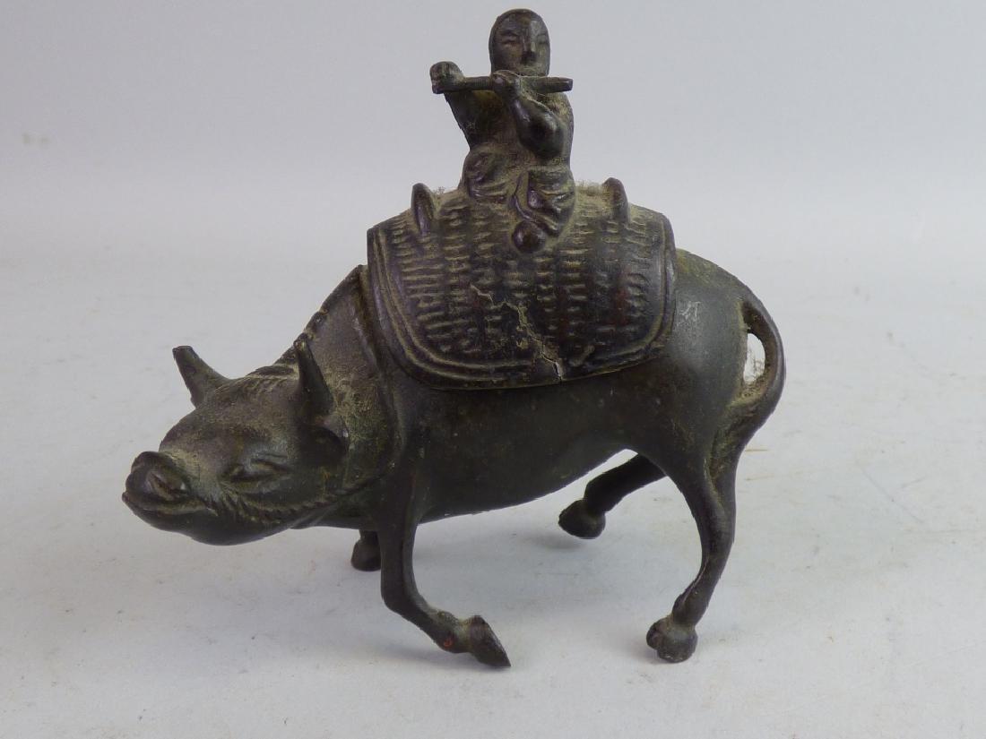 Small Japanese Bronze Figural Censer