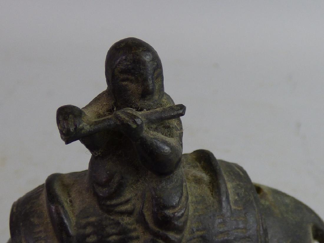 Small Japanese Bronze Figural Censer - 5