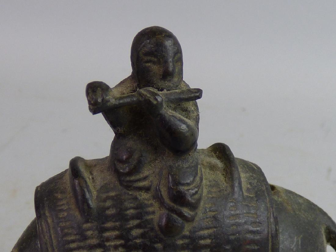 Small Japanese Bronze Figural Censer - 6