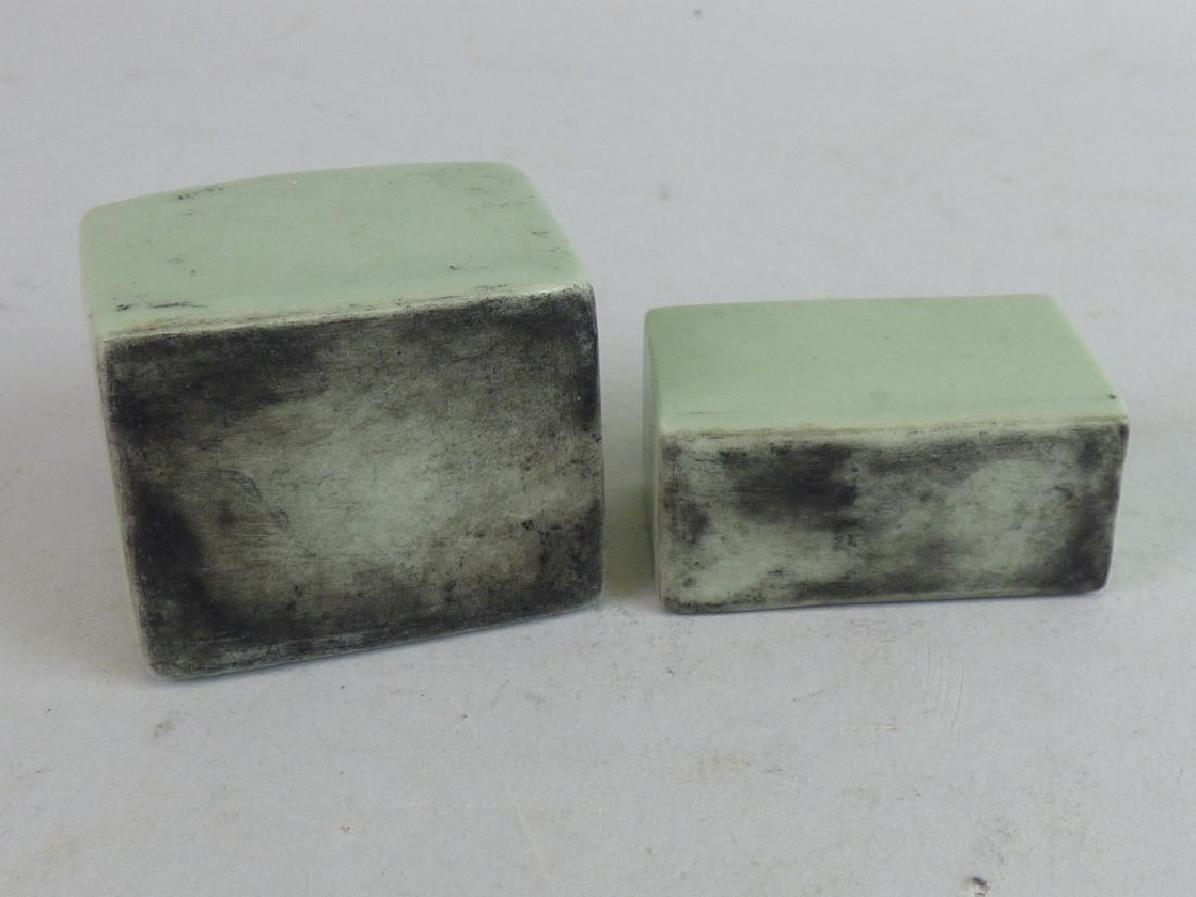 Two Celadon Porcelain Calligrapher's Items - 3
