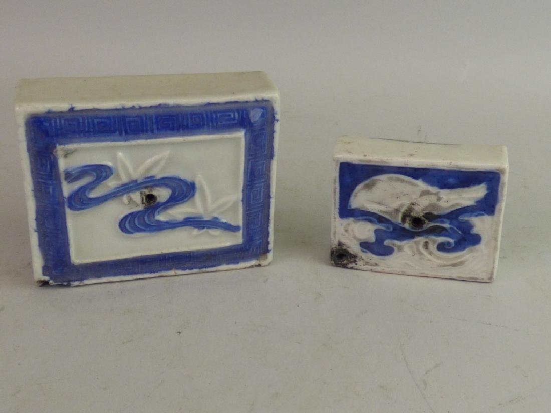 Two Porcelain Calligrapher's Water Droppers - 3