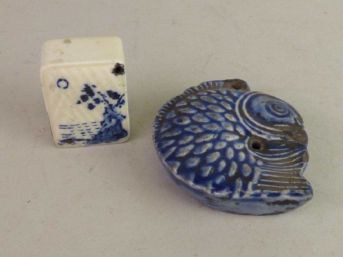 Two Porcelain Calligrapher's Water Droppers