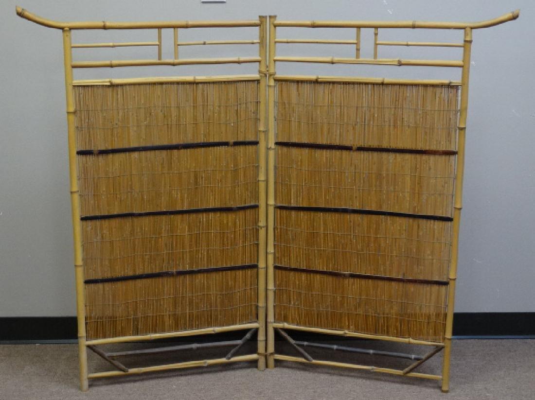 2 Panel Japanese Bamboo Floor Screen