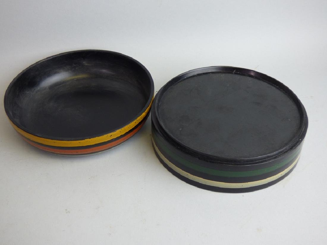 Two Polychromed Lacquered Boxes - 2