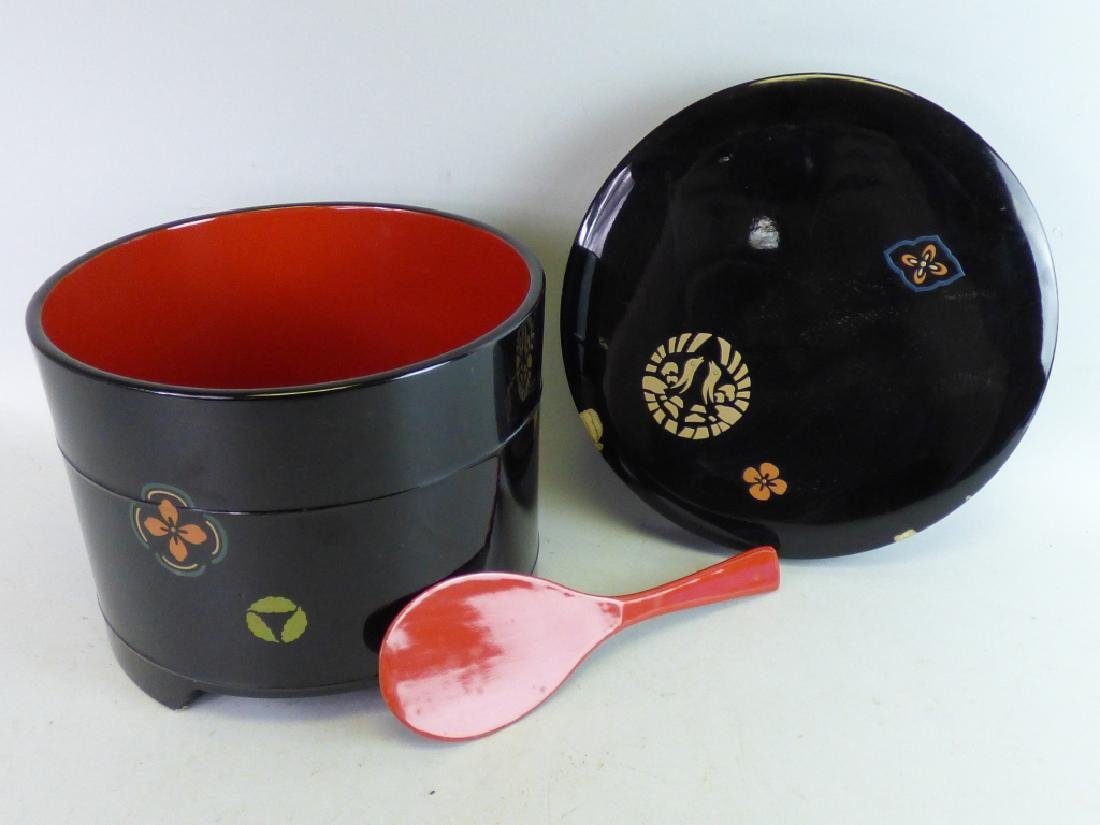 Lacquered Round Box