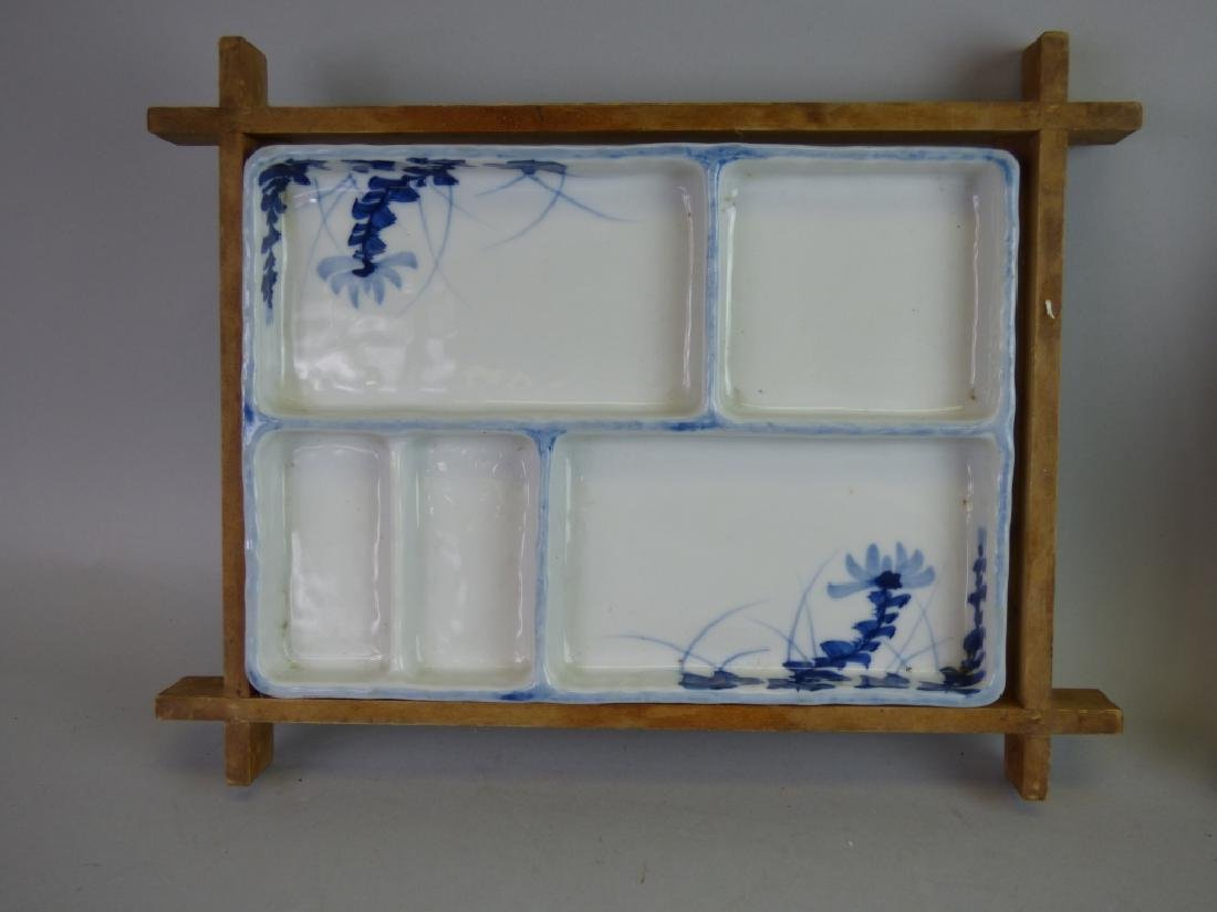 Eight Antique Japanese Porcelain Divided Trays - 2