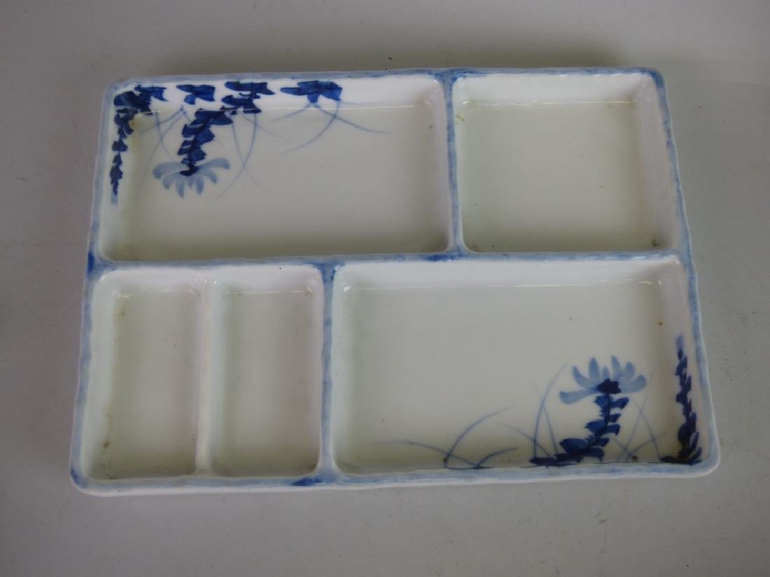 Eight Antique Japanese Porcelain Divided Trays - 8