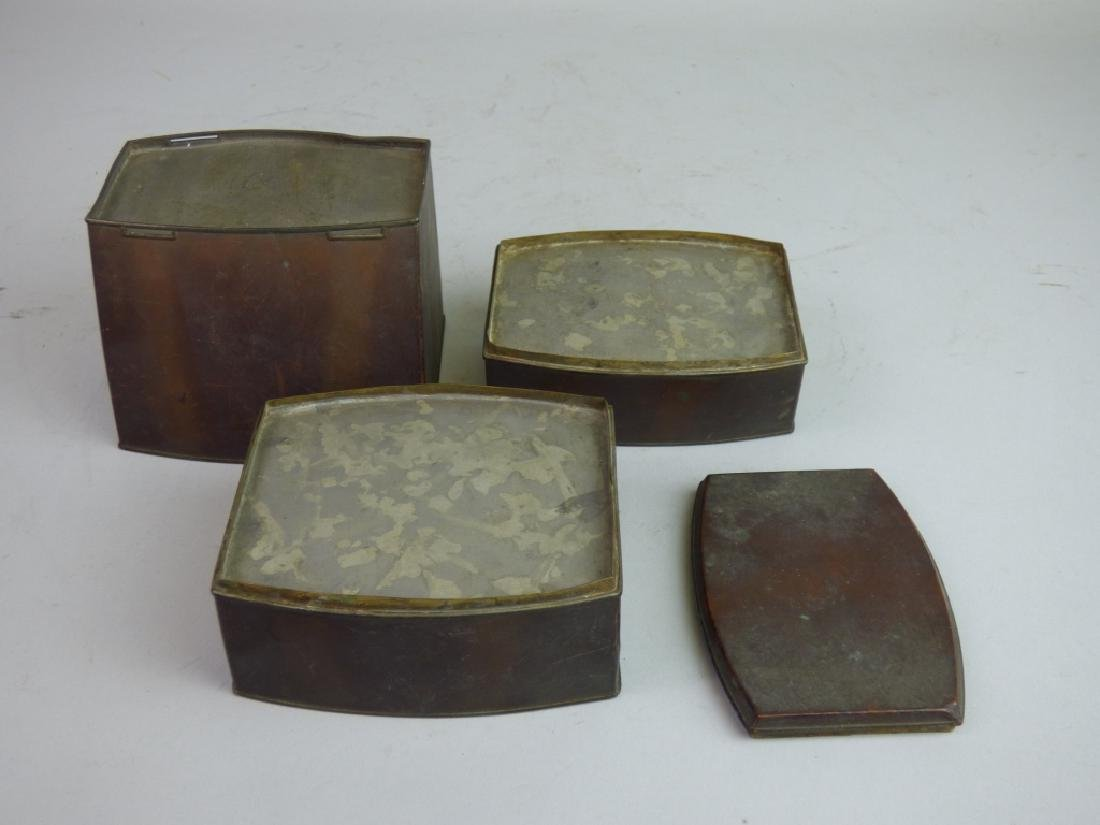 Tin-Lined Copper Stacking Tea Caddy - 4