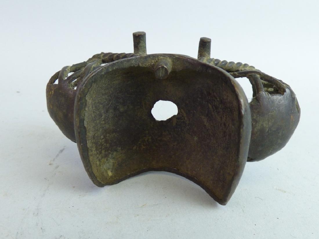 Three Antique Japanese Figural Metalware Articles - 10