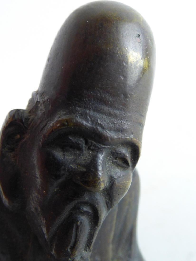 Three Antique Japanese Figural Metalware Articles - 2