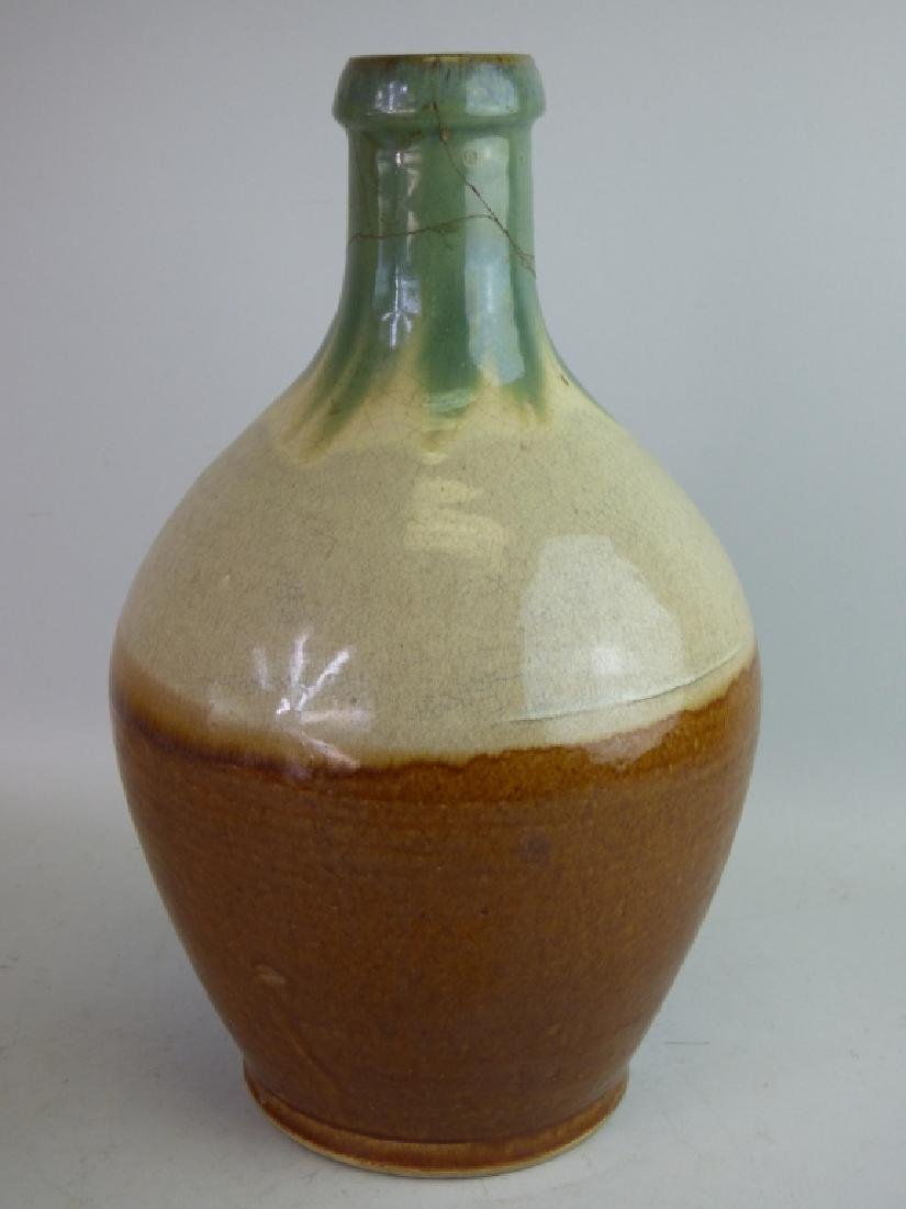 Flame Glazed Pottery Tokkuri Sake Bottle