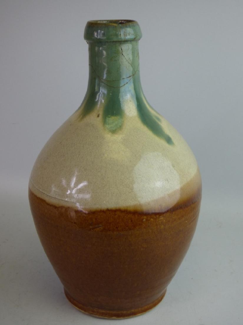 Flame Glazed Pottery Tokkuri Sake Bottle - 3