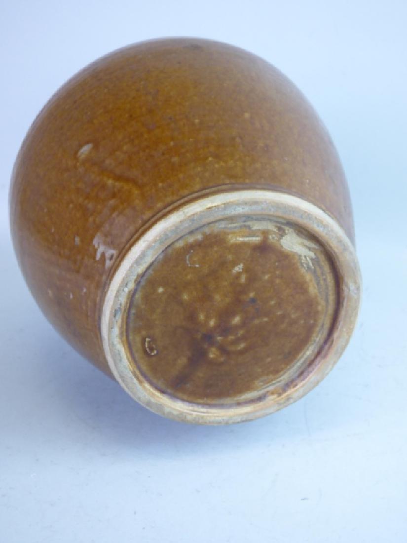 Flame Glazed Pottery Tokkuri Sake Bottle - 6