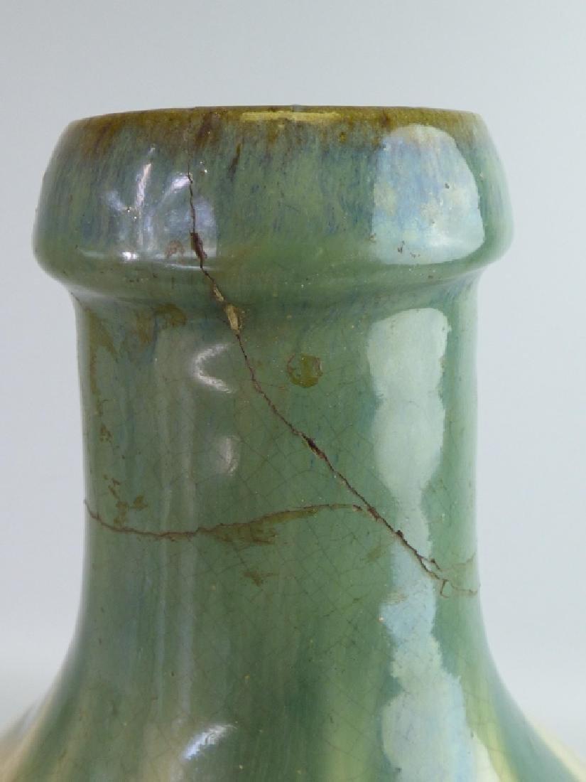 Flame Glazed Pottery Tokkuri Sake Bottle - 9