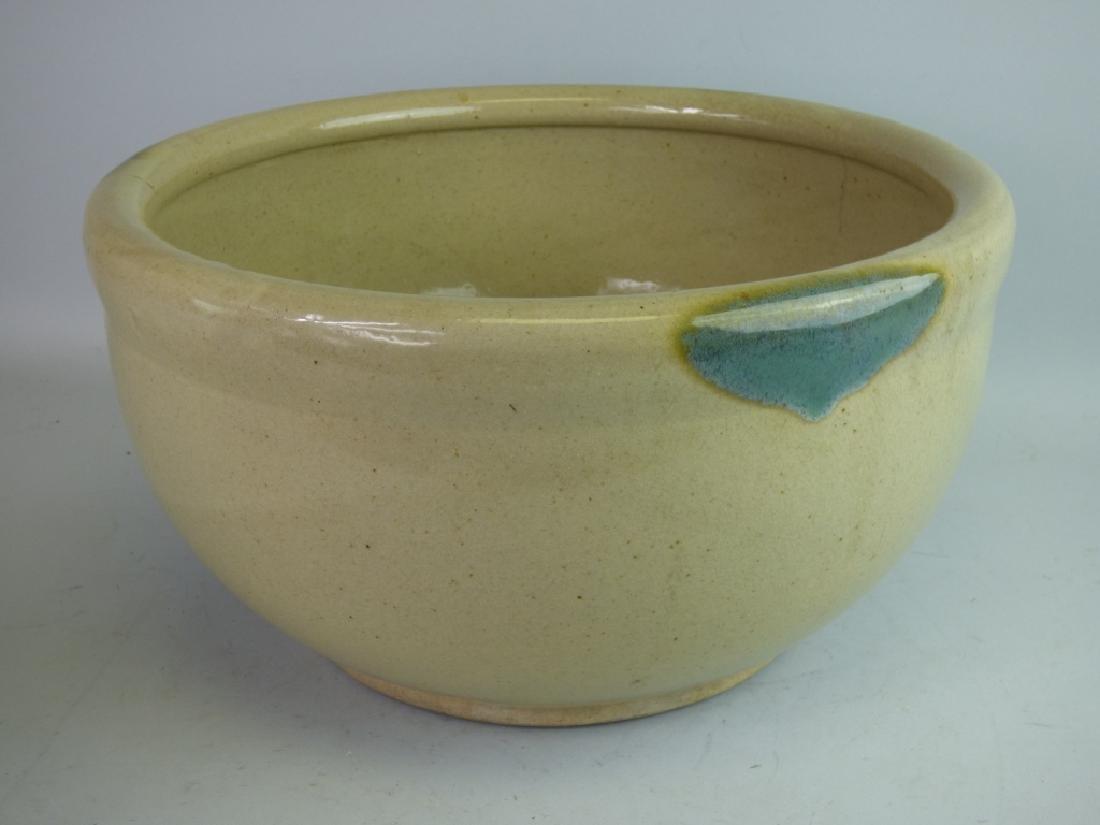 Large Japanese Ki-Seto Pottery Bowl
