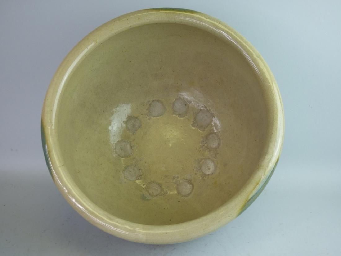 Large Japanese Ki-Seto Pottery Bowl - 3