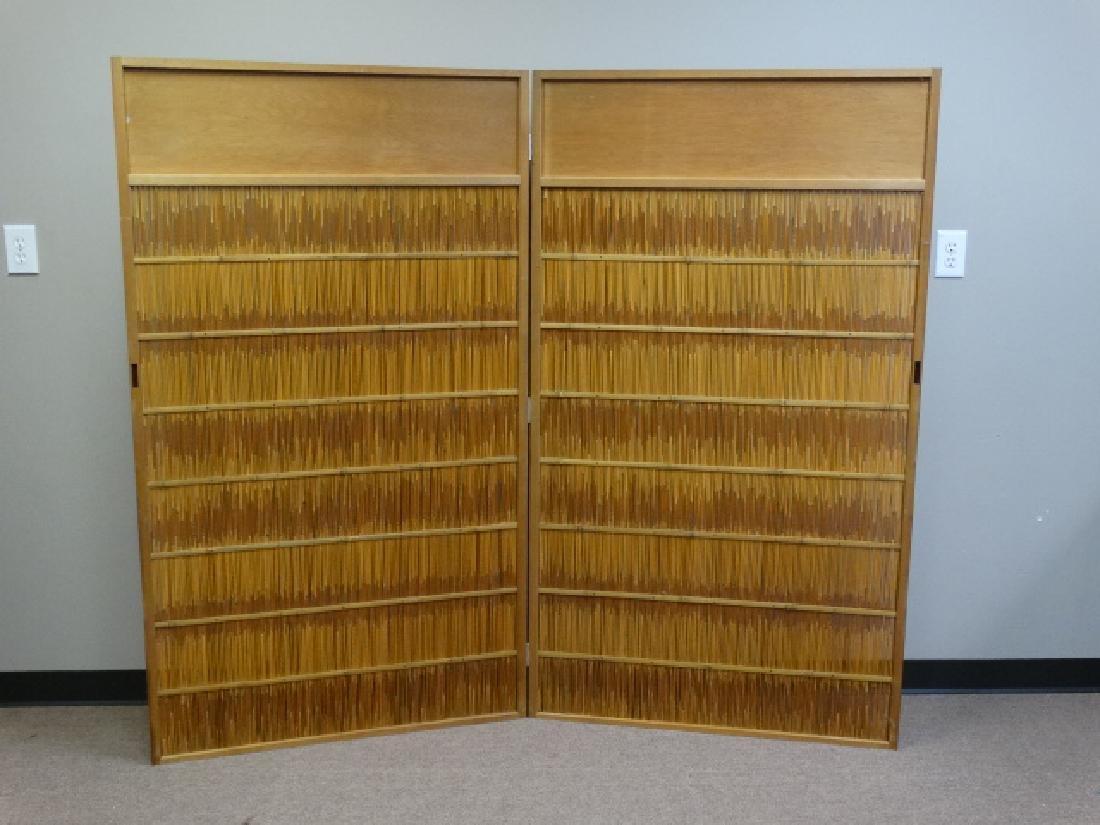 Japanese 2 Panel Bamboo Room Screen