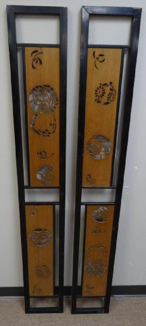 Pair of Japanese Ranma Transom Panels - 3