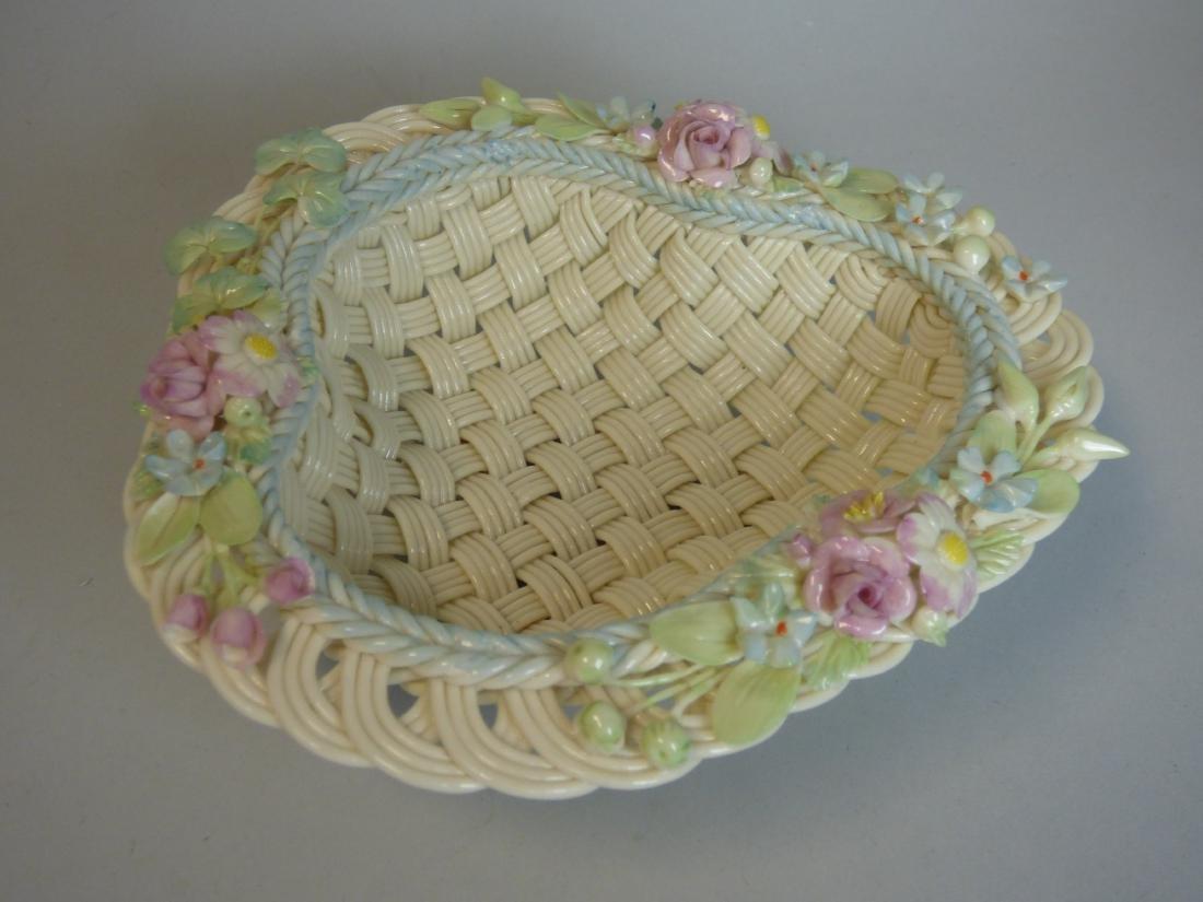 Belleek Reticulated Porcelain Basket