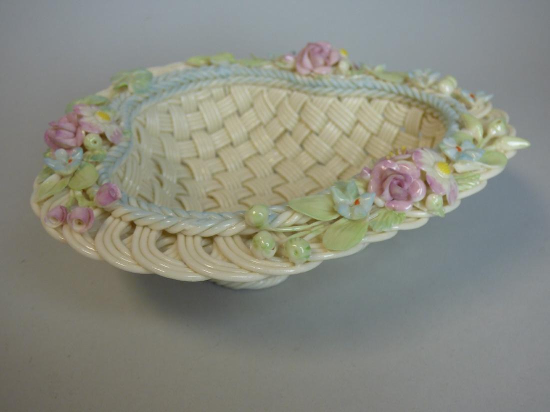 Belleek Reticulated Porcelain Basket - 2