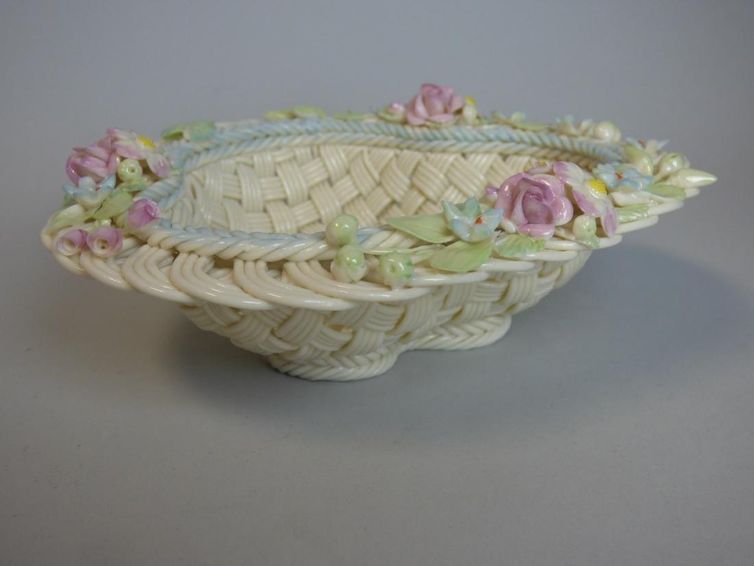 Belleek Reticulated Porcelain Basket - 3