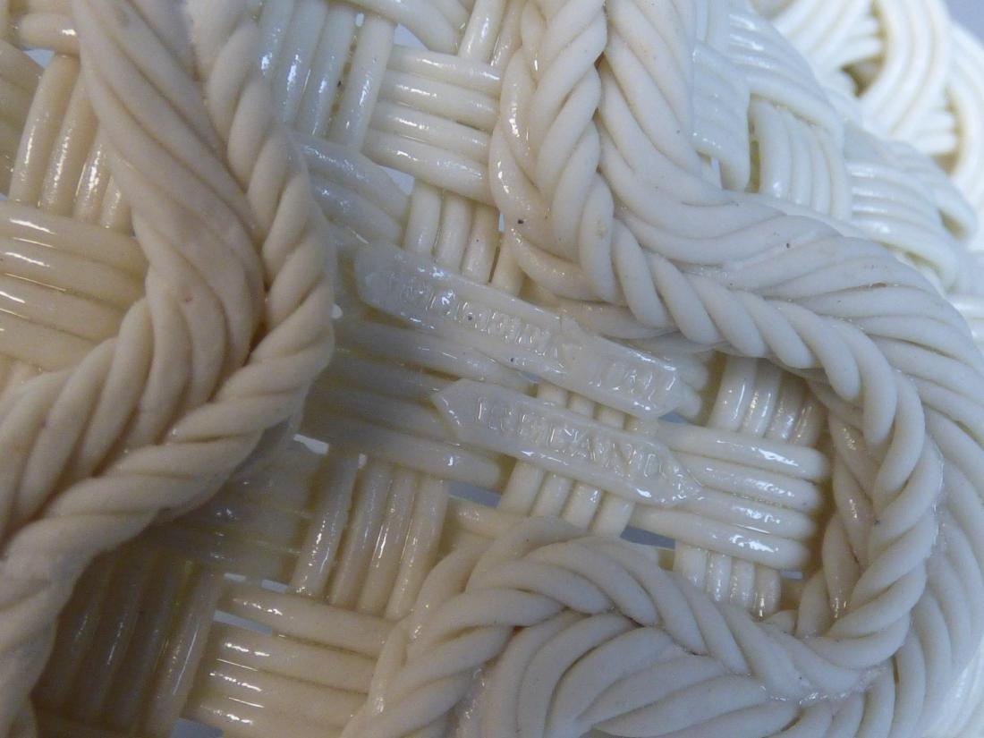 Belleek Reticulated Porcelain Basket - 5