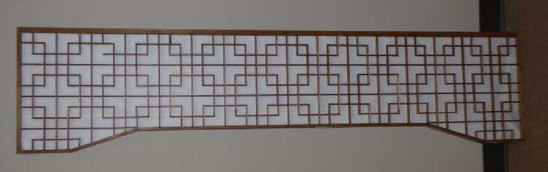 Japanese Carved Wood Transom Panel