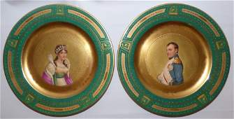 Pair of Royal Vienna Porcelain Cabinet Plates