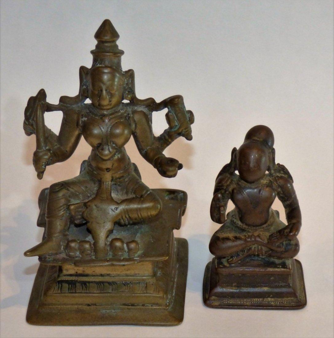 Two Indian or Deccan Bronze Akiloteshvara