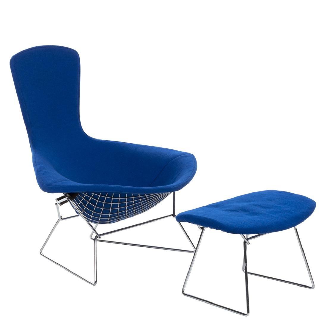 Bertoia Bird Chair and Ottoman