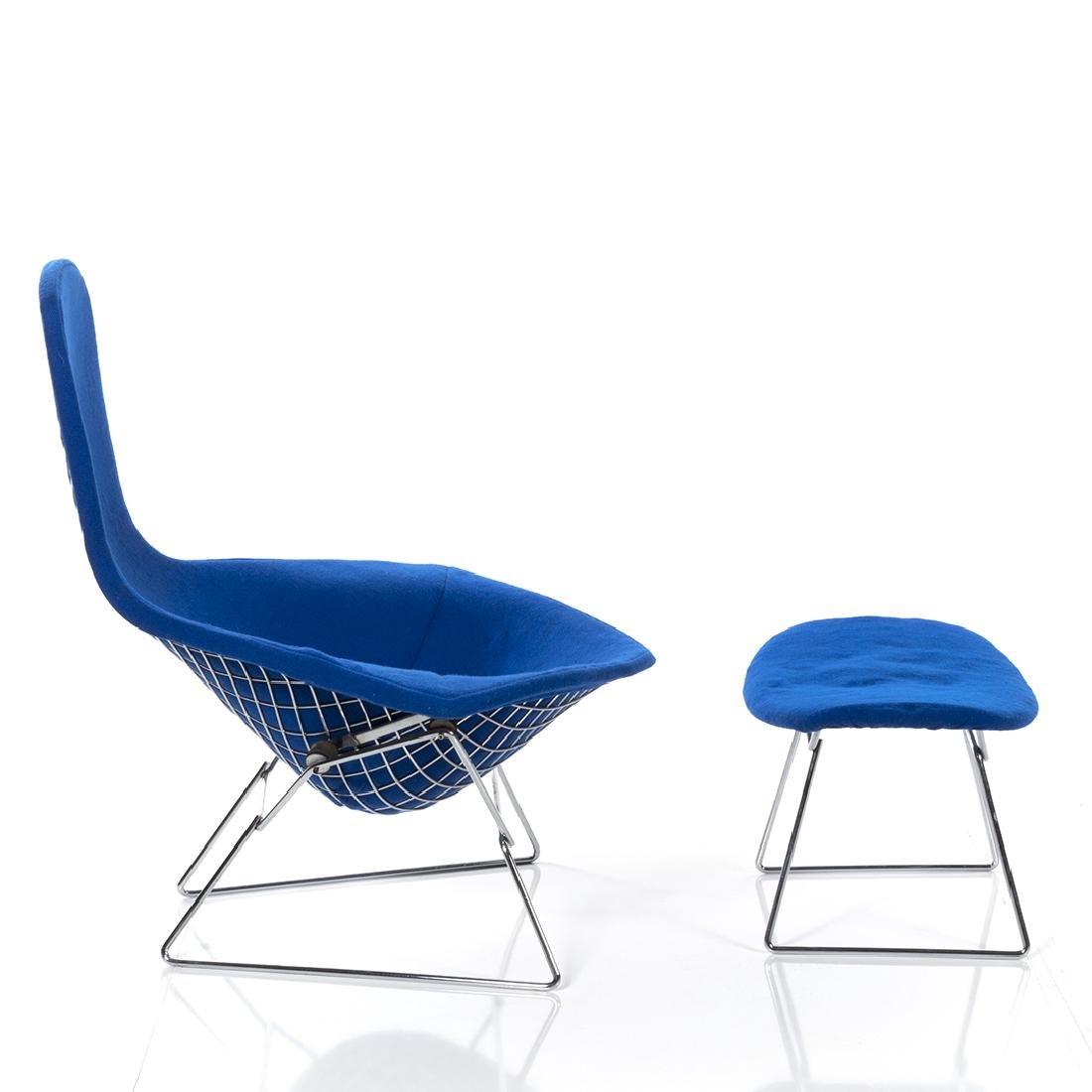 Harry Bertoia Bird Chair and Ottoman - 2