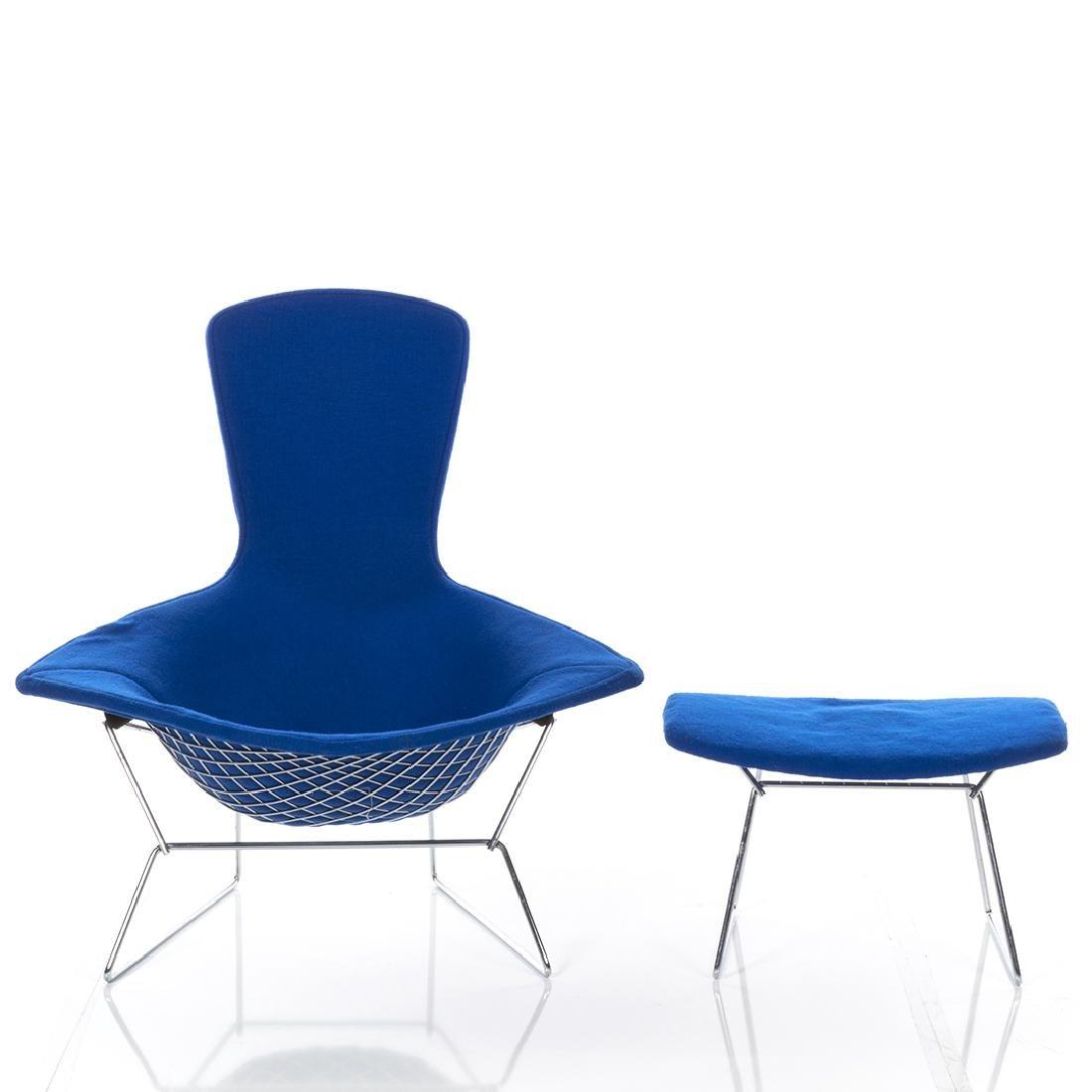 Harry Bertoia Bird Chair and Ottoman - 3