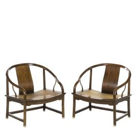 Michael Taylor Far East Lounge Chairs (2)