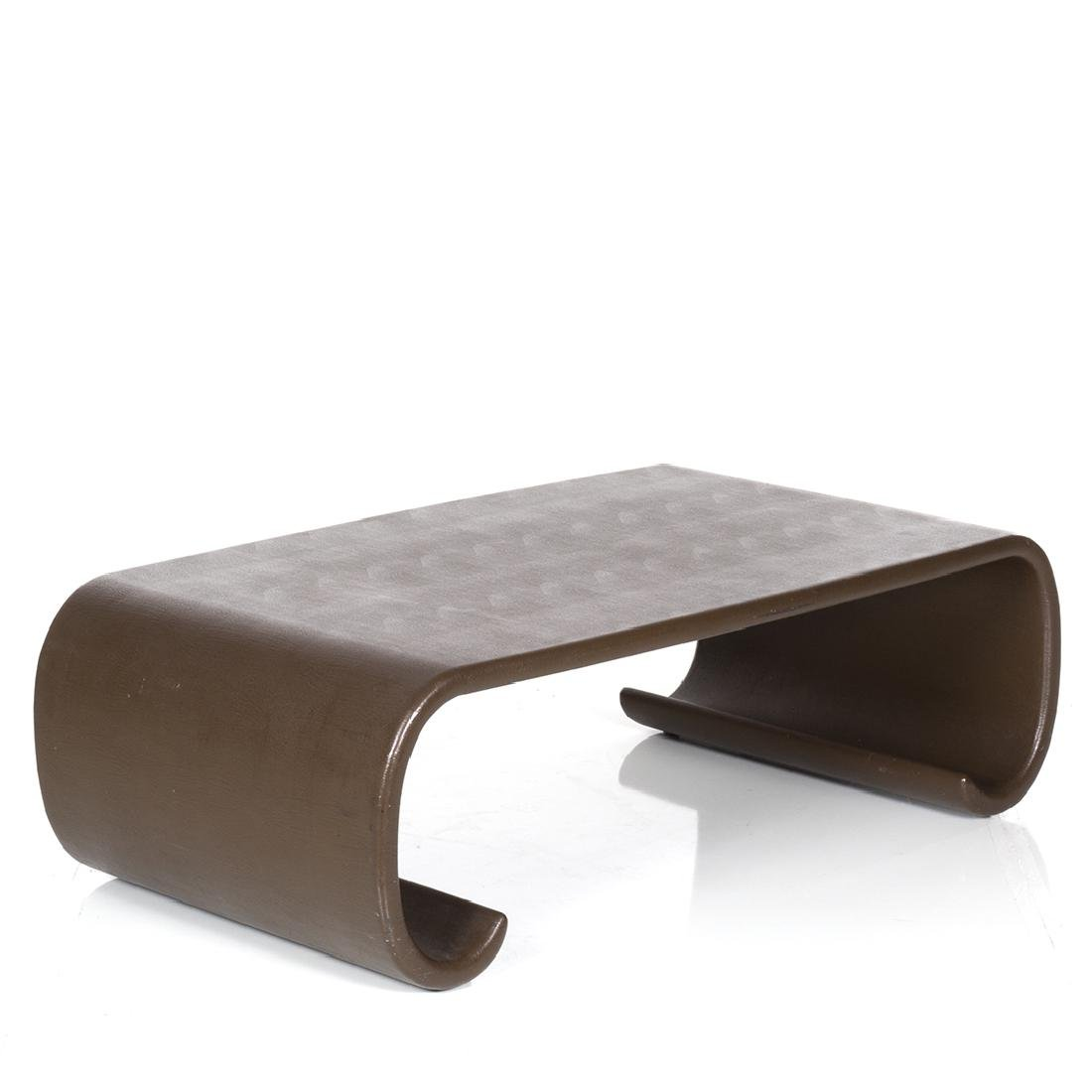 Karl Springer Leather Scroll Coffee Table - 2