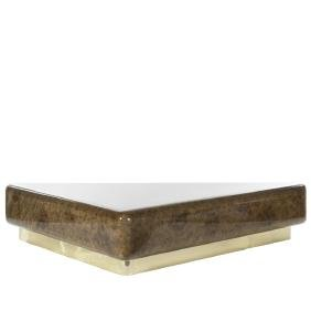 Faux Tortoise Lacquered Coffee Table