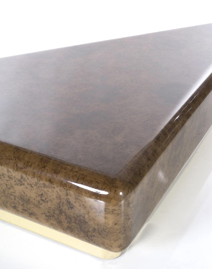 Faux Tortoise Lacquered Coffee Table - 3