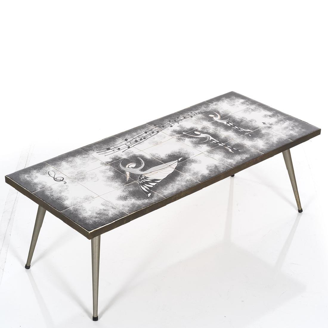 Mid-century Iron and Tile Table Set (3) - 5