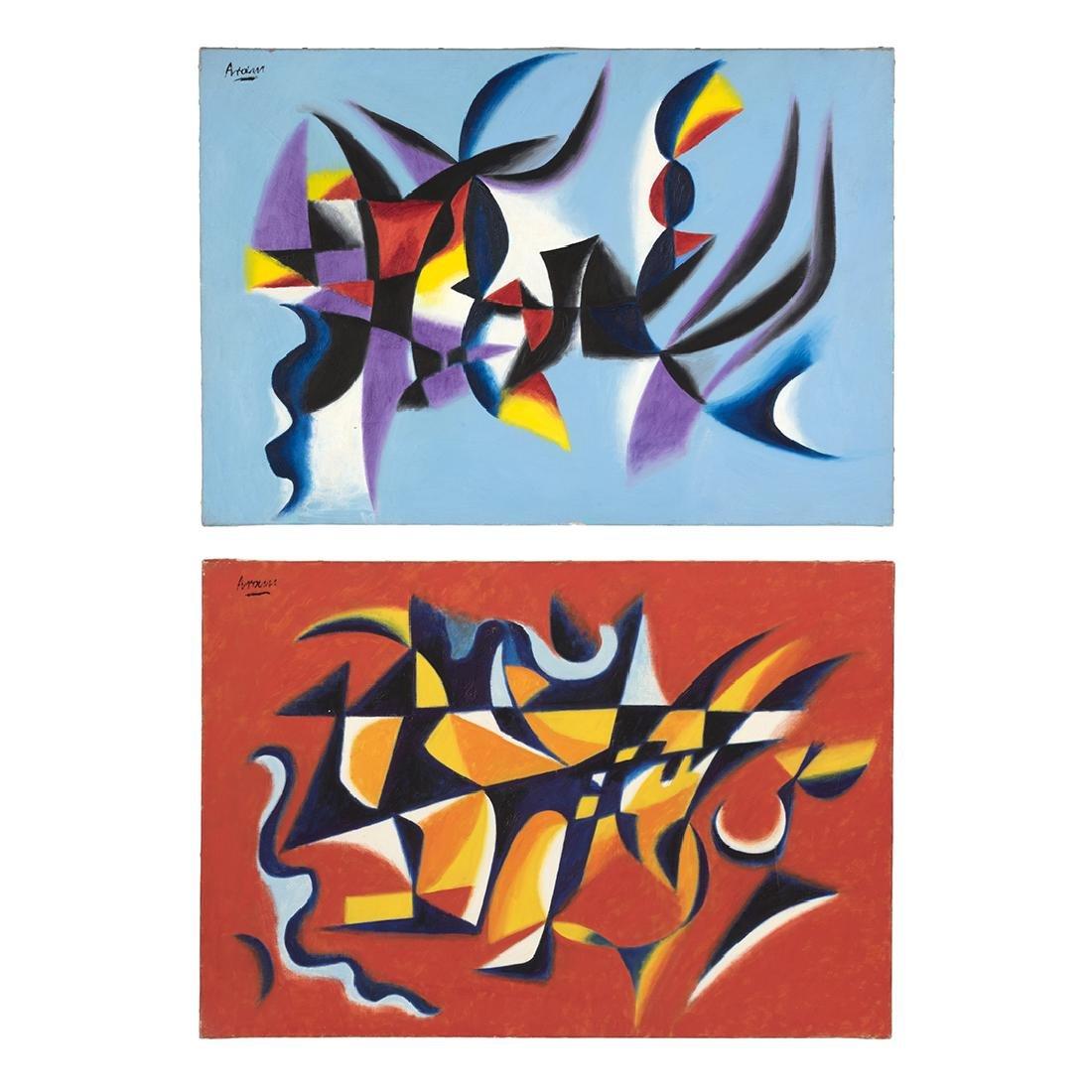 Gottlieb Michael Aram Untitled Paintings (2)