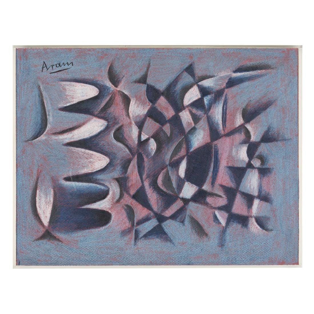 Gottlieb Michael Aram Pastels (2)