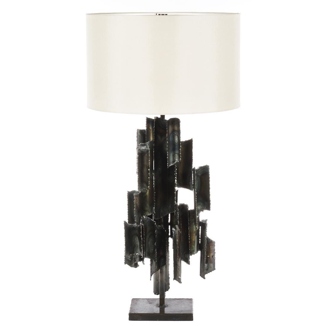 Marcello Fantoni Studio Burnished Metal Table Lamp - 2