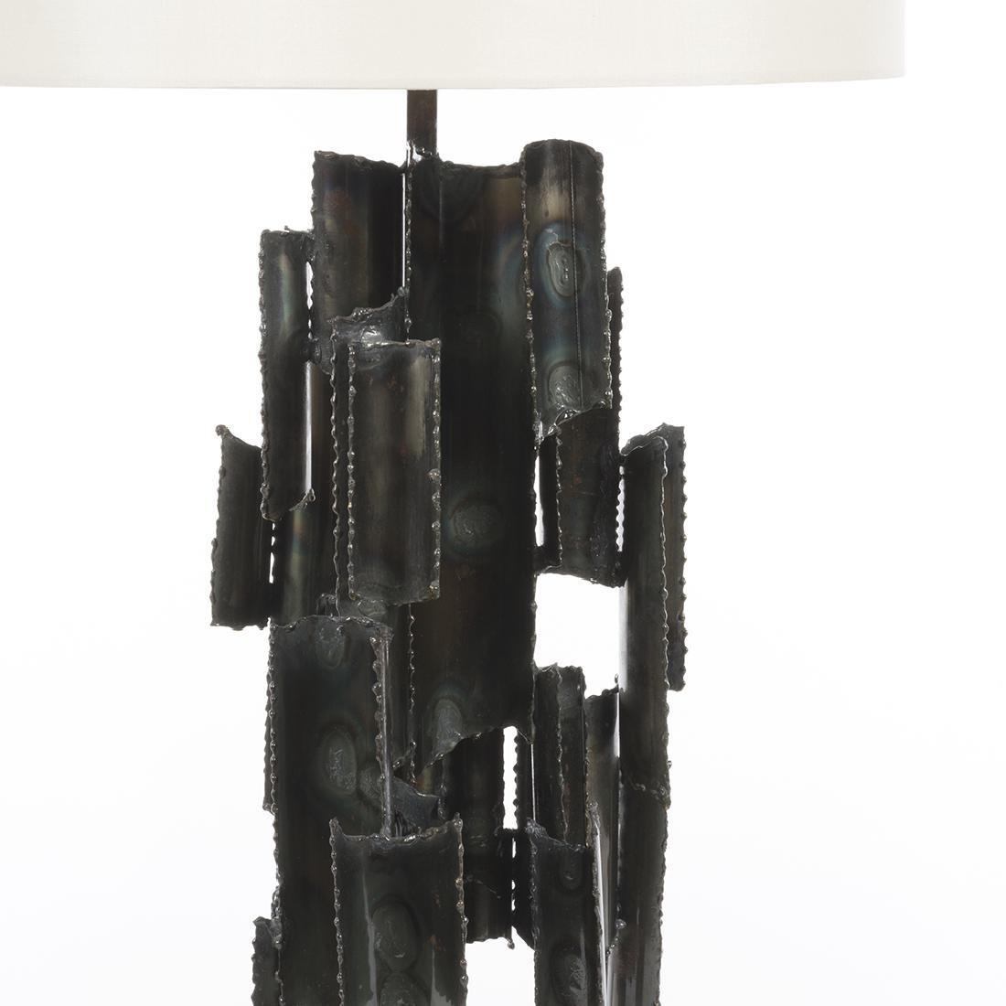 Marcello Fantoni Studio Burnished Metal Table Lamp - 4