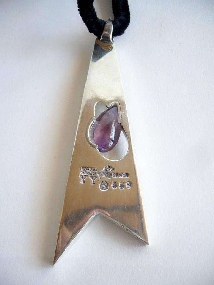 Antonio Pineda sterling silver and amethyst pendant - 2
