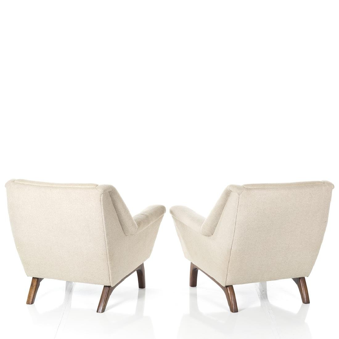 Danish Wool Lounge Chairs (2) - 3