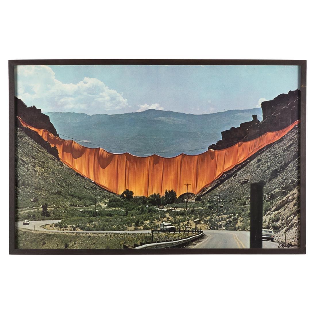 Christo 'Valley Curtain, Rifle Colorado' Offset Print