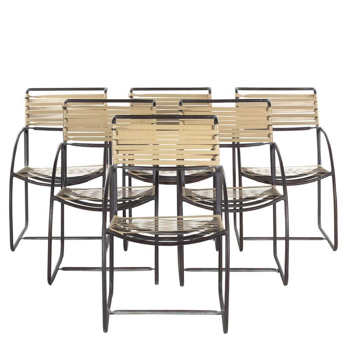Kipp Stewart Bronze Armchairs (6)