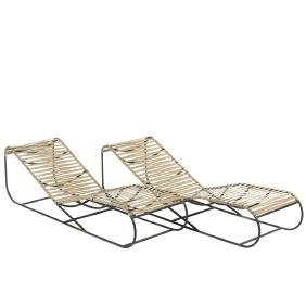 Kipp Stewart Bronze Chaise Lounges (2)